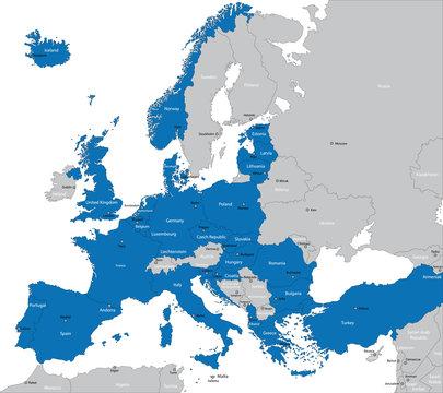 Members of NATO in Europe