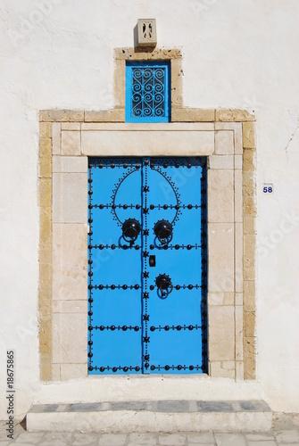 Porte de sidi bou said en tunisie photo libre de droits for Decoration porte sidi bou said
