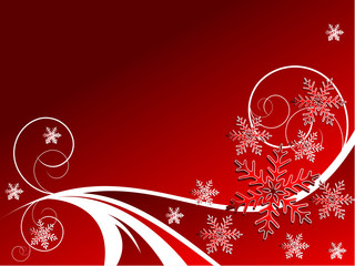 backdrop with snowflakes