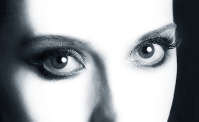 Open eyes closeup