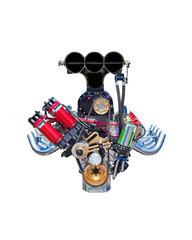 Isolated racing engine