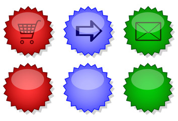 Website internet button set