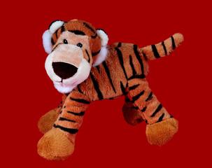 Obraz plush tiger toy - fototapety do salonu