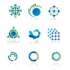 Collection of 9 design elements