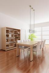 3d render a modern dining room