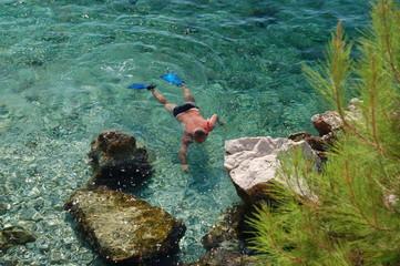 Fototapeta Snorkelling w Chorwacji obraz