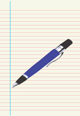 Illustration of a pen on top of a paper