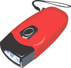 Illustration of a red coloured torch