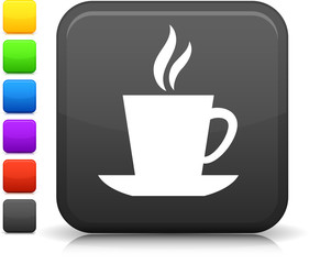 cup of tea or coffee square icon