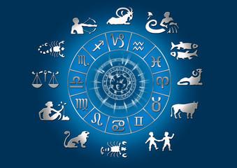 Sternzeichen mit Symbolen - Astrologie