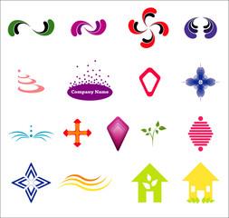 Vector logotype pattern