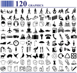 120 graphics various people transport animals and more