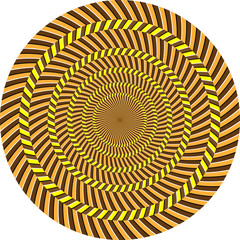 Poster de jardin Psychedelique optical illusion
