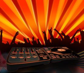 nightclubing - electro music background