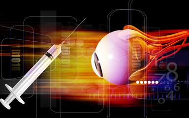 Syringe and eye