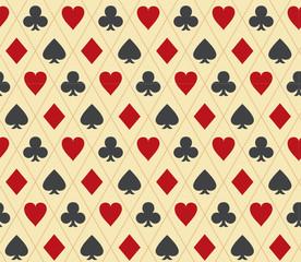Poker seamless pattern