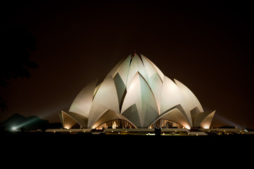 Printed roller blinds Temple Lotus Temple in New Delhi