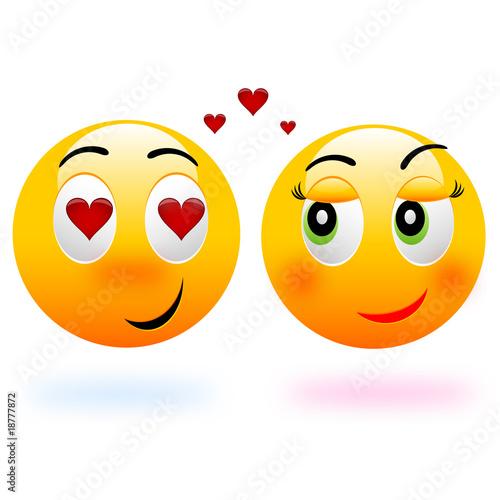 Love smiley balls Stockfotos und lizenzfreie Vektoren