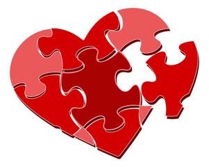 Valentine's heart puzzle