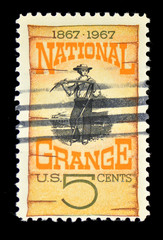 Vintage USA stamp used and franked