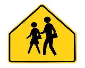 road sign - school crossing