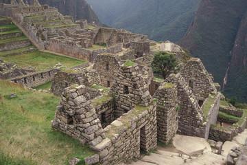 Residential Section of Machu Picchu, Peru.