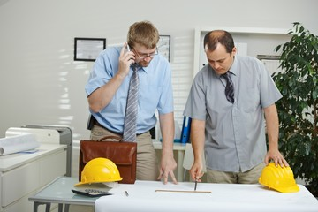 Architects working at desk