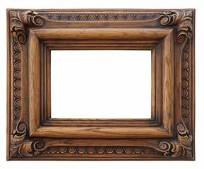 marco de madera rústico hecho a mano aislado