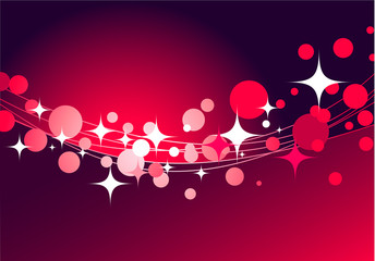 decorative red background with stars