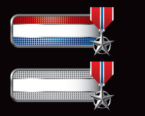 military medal striped banners