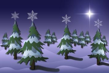 Schneelandschaft - Weihnachten