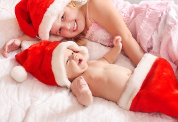 children in red hats