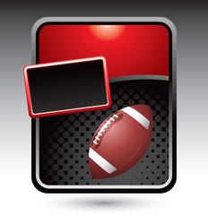 football red stylized advertisement
