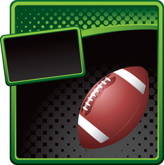 football green and black halftone template