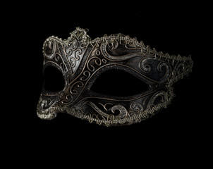 Wall Mural - carnival mask isolated on black