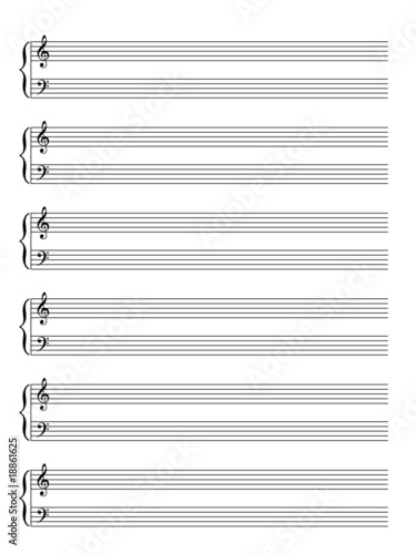 "Blank Sheet of Music Manuscript (piano) (vector)"" Stock image and ..."