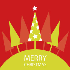 Christmas Tree Card Background
