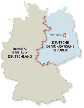 Karte Geteiltes Deutschland 1961-1989