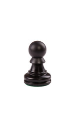 Chess piece: Black pawn isolated on white background