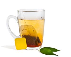 isolated hot tea