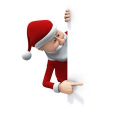 santa pointing