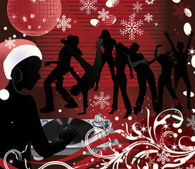 Abstract vector Christmas Concert poster.Music poster.DJ
