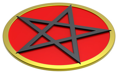 Pentagram isolated on white