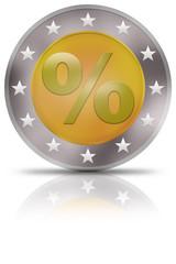 euro münze rabatt prozente gespiegelt billig preiswert