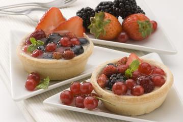 Assorted berries pie.