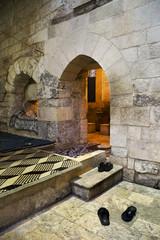 Entrance of hammam (turkish bath) in Syria