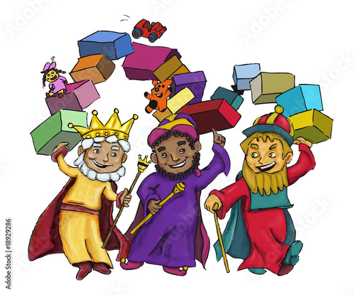 Dibujo Ilustracion Reyes Magos Navidad Stock Photo And Royalty Free