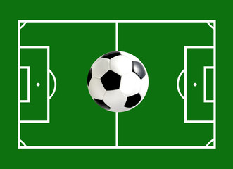 Feld mit Ball