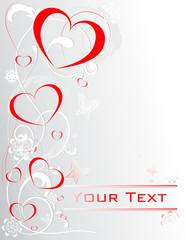 Beautiful valentine card