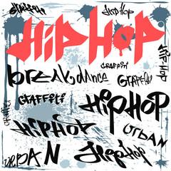 hip-hop graffiti vector urban background